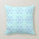 Snowflakes Pattern Pale Aqua Pillow