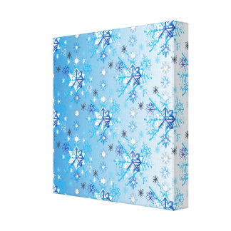 Snowflakes pattern V Canvas Print