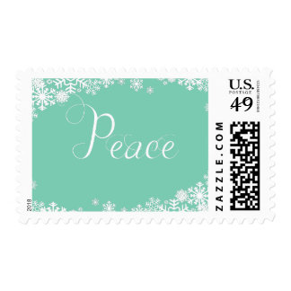Snowflakes Peace Holiday Postage
