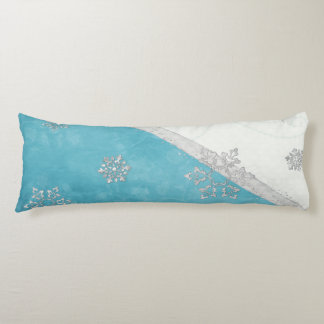 Snowflakes & Peppermint Holiday Body Pillow