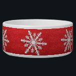 """Snowflakes Pet Bowl<br><div class=""""desc"""">Snowflakes Pet Bowl</div>"""