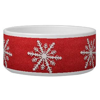 Snowflakes Pet Bowl