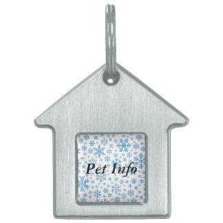Snowflakes Pet Name Tag