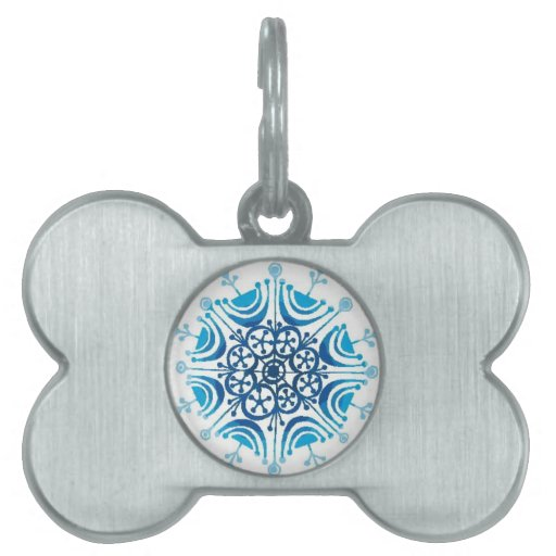 Snowflakes - pet tags