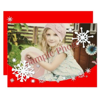 "Snowflakes Photo Frame - 5"" x 7"" Card"