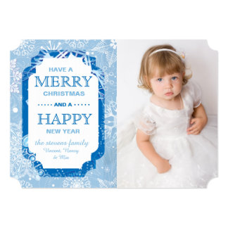 Snowflakes Photo Holiday Card
