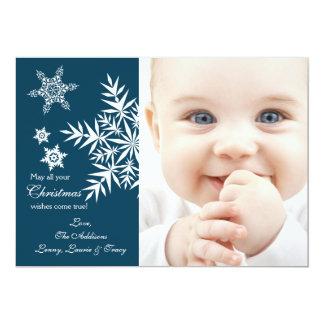 Snowflakes - Photo Holiday Card