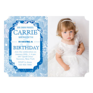 Snowflakes Photo Invitation