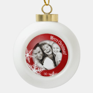 Snowflakes Photo Personalized Christmas ornament
