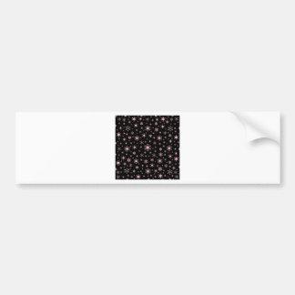 Snowflakes – Pink on Black Bumper Sticker