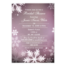 Snowflakes Pink Winter Bridal shower invite