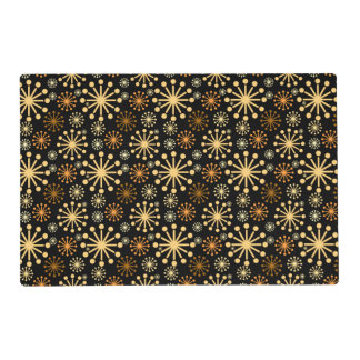 Snowflakes Place mat Gorgeous Golden Silver