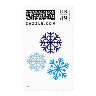 Snowflakes Postage Stamps