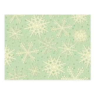 Snowflakes, postcard