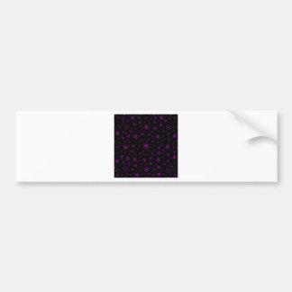 Snowflakes – Purple on Black Bumper Stickers