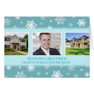 Snowflakes Realtor Season's Greetings Photo Card