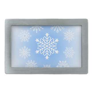 Snowflakes Rectangular Belt Buckle