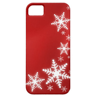 Snowflakes Red Holiday iPhone5 cover iPhone 5 Cases