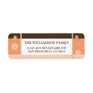 Snowflakes Return Address Labels (peach)