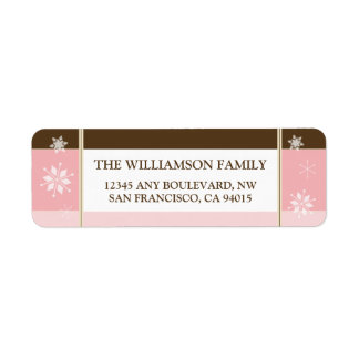 Snowflakes Return Address Labels (pink)