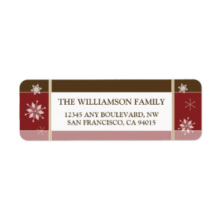 Snowflakes Return Address Labels (red)