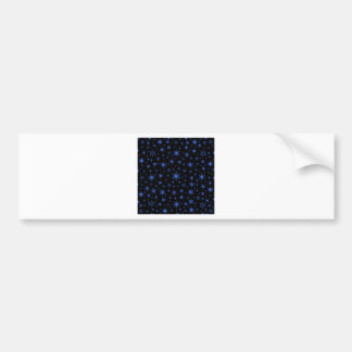 Snowflakes – Royal Blue on Black Bumper Sticker