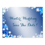 Snowflakes Save the Date Postcard 2