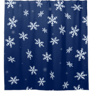 Snowflakes Shower Curtains