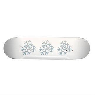 Snowflakes Skateboard Deck