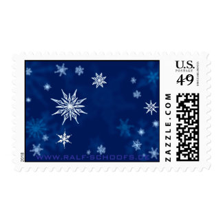 Snowflakes Sketch Midwinter Night Postage