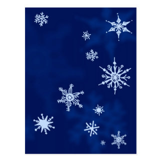 Snowflakes Sketch Midwinter Night Postcard