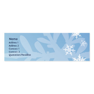 Snowflakes - Skinny Double-Sided Mini Business Cards (Pack Of 20)