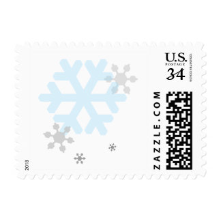 Snowflakes Small Square Postcard Stamp