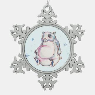 Snowflakes Snowflake Pewter Christmas Ornament