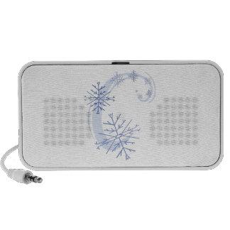 Snowflakes Laptop Speaker