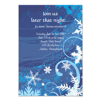 SNOWFLAKES & STARS Bar Bat Mitzvah Party Card Personalized Invites