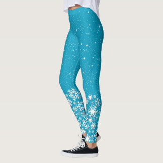 Snowflakes & Stars (editable) Leggings