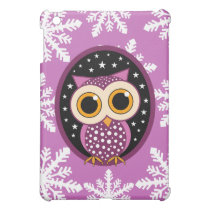 snowflakes stars owl cover for the iPad mini