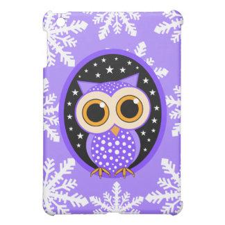 snowflakes stars purple owl iPad mini cases