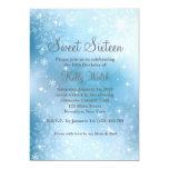 Snowflakes Sweet 16 Winter Wonderland Invitation