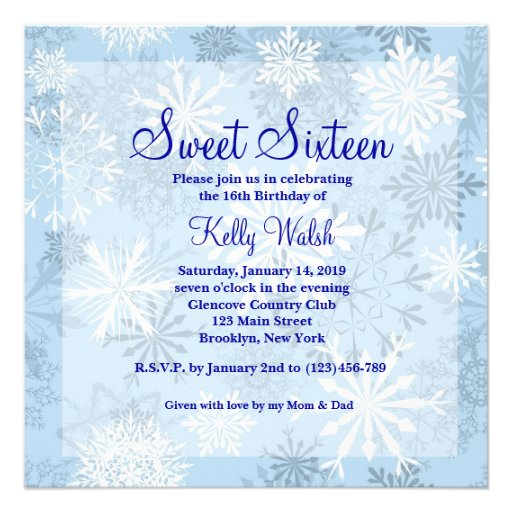 Personalized Winter Wonderland Sweet 16 Invitations. Raci Matrix Template Excel Template. Sample Of Inquiry Letter. Names For A Cleaning Service Template. Photo Album Template Powerpoint Template. Financial Plan Template. Free Funeral Programs. Hello My Name Is Nametag Template. Objective For A Job Resume Template