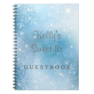 Snowflakes Sweet 16 Wonderland Guest Book