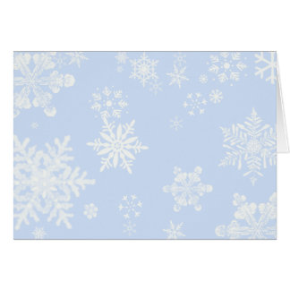 Snowflakes Thank You Card