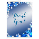 Snowflakes Thank You Card or Table Number