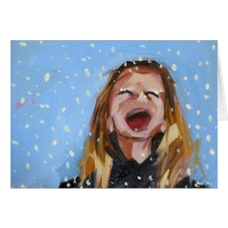 snowflakes that stay on my nose and eyelashes greeting card