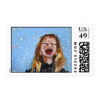 snowflakes that stay on my nose and eyelashes postage
