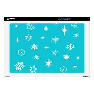 Snowflakes theme laptop skin