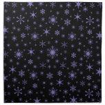 Snowflakes – Ube on Black Napkin