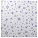 Snowflakes – Ube on White Cloth Napkins