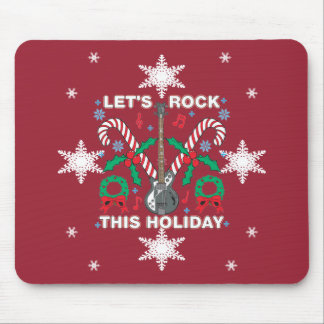 Snowflakes Ugly Sweater Lets Rock This Holiday Mouse Pad